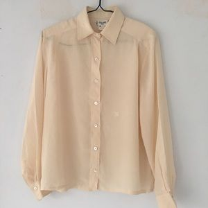 💎30% OFF💎 Celine Silk Vintage Cream Blouse